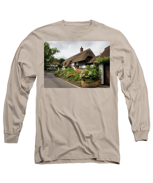 Thatched Cottages In Micheldever Long Sleeve T-Shirt