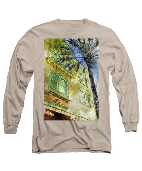 The Adrian Hotel South Beach Long Sleeve T-Shirt by Jon Neidert