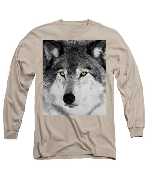 Long Sleeve T-Shirt featuring the photograph The Alpha Portrait by Mircea Costina Photography