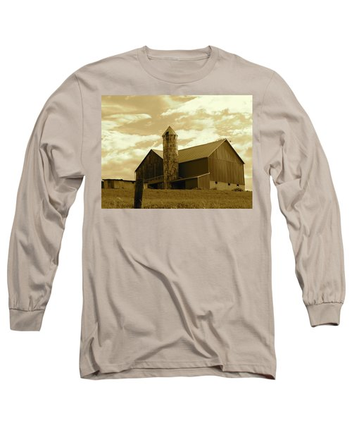 The Amish Silo Barn Long Sleeve T-Shirt