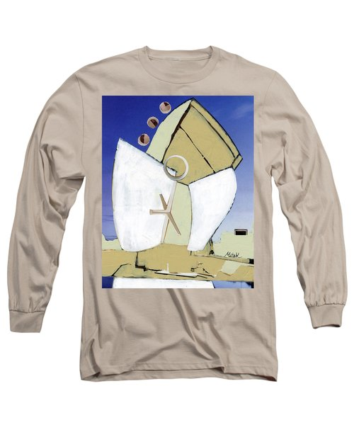 Long Sleeve T-Shirt featuring the painting The Arc by Michal Mitak Mahgerefteh