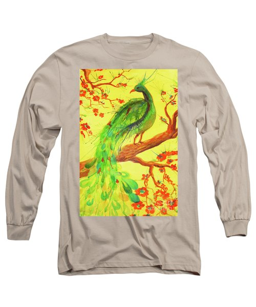 The Auspicious Peacock Long Sleeve T-Shirt