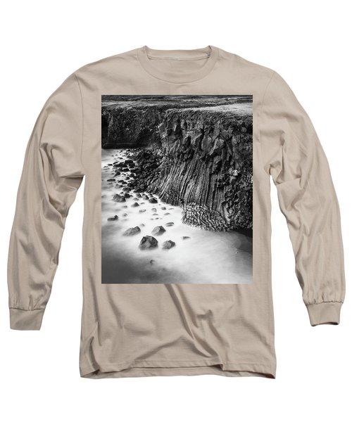 The Basalt Cliff Of Arnarstapi Long Sleeve T-Shirt