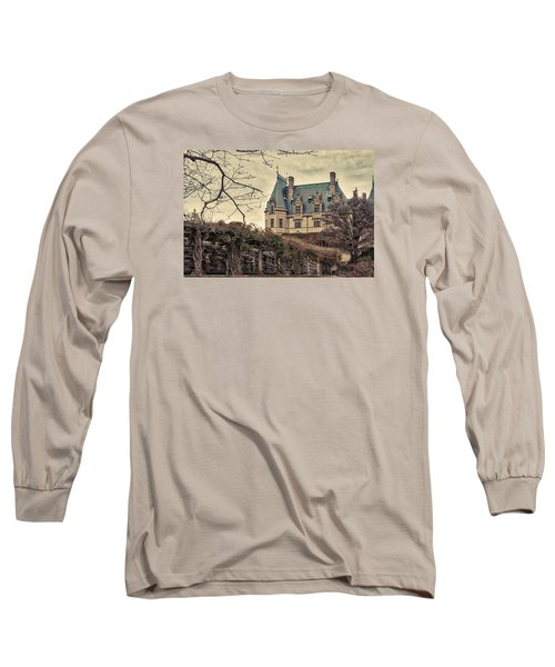The Biltmore Mansion In The Fall Long Sleeve T-Shirt by Robert FERD Frank
