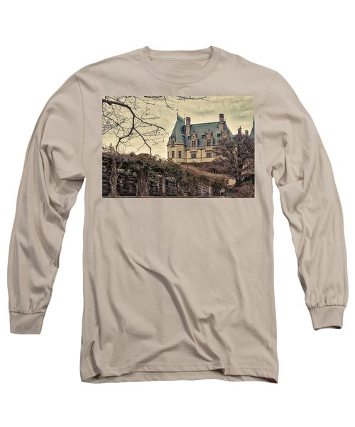 The Biltmore Mansion In The Fall Long Sleeve T-Shirt