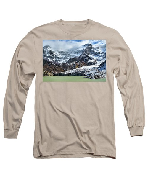 The Black Snowdrift Glacier Long Sleeve T-Shirt
