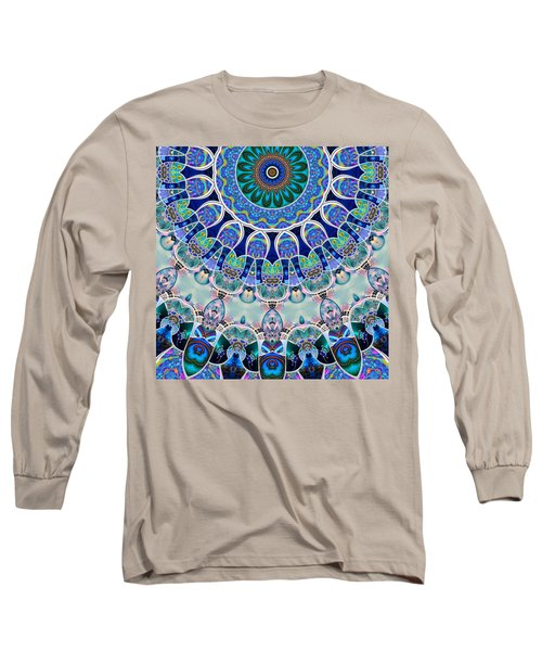 Long Sleeve T-Shirt featuring the digital art The Blue Collective 02b by Wendy J St Christopher