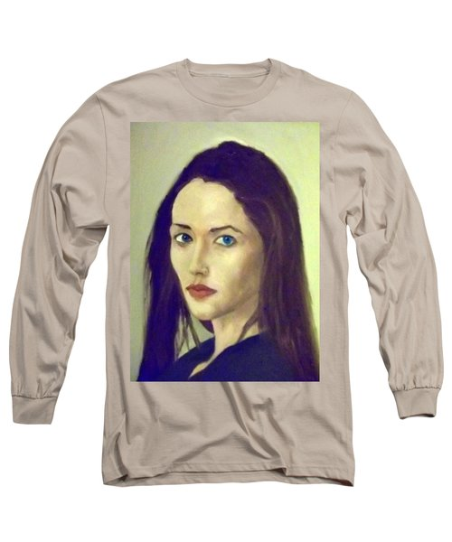 The Brunette With Blue Eyes Long Sleeve T-Shirt