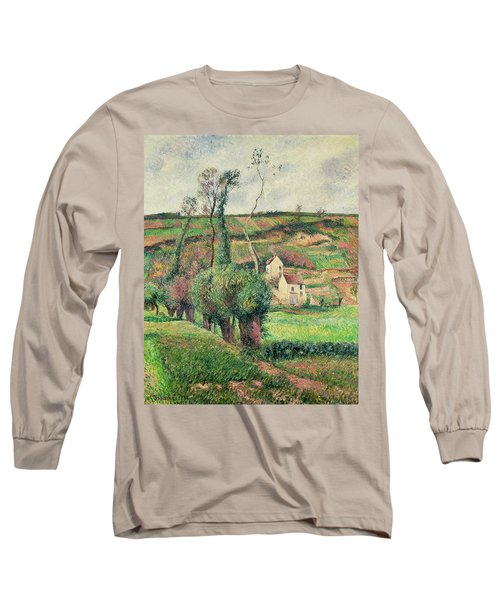 The Cabbage Slopes Long Sleeve T-Shirt by Camille Pissarro