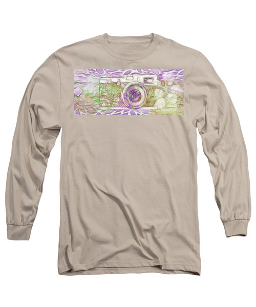 Long Sleeve T-Shirt featuring the digital art The Camera - 02c6 by Variance Collections