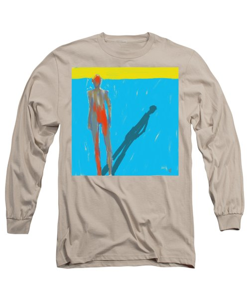 Long Sleeve T-Shirt featuring the painting The Cast Shadow by Jim Vance
