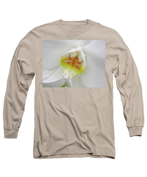 The Cat Side Of An Orchid Long Sleeve T-Shirt by Manuela Constantin