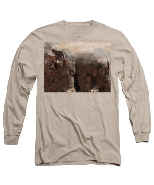 Long Sleeve T-Shirt featuring the digital art The Cave by Robert Orinski