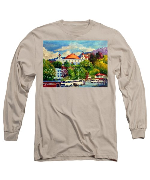 The Central Taxi Terminal In Jayapura Long Sleeve T-Shirt