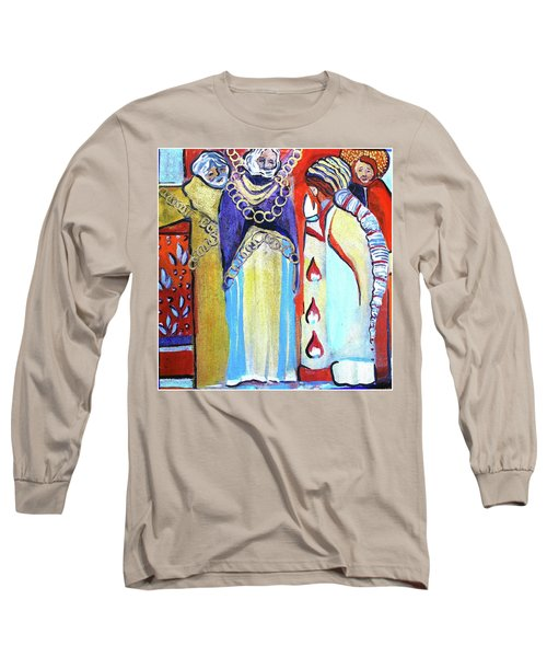 Long Sleeve T-Shirt featuring the painting The Chains That Bind Us To Christ by Mindy Newman