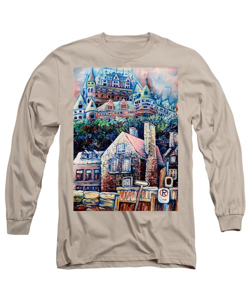 The Chateau Frontenac Long Sleeve T-Shirt by Carole Spandau
