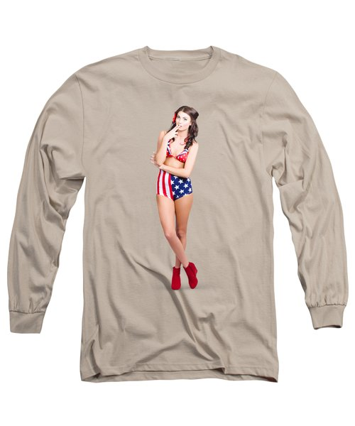 The Classic Pin-up Girl Photo Long Sleeve T-Shirt