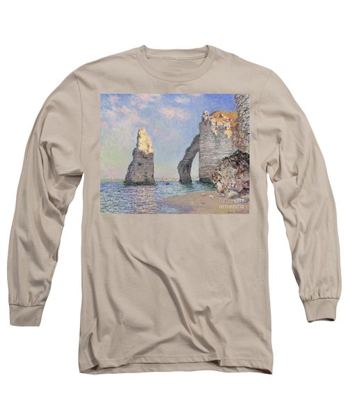 The Cliffs At Etretat Long Sleeve T-Shirt