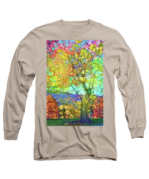 Long Sleeve T-Shirt featuring the digital art The Contagious Laughter Of Trees by Tara Turner