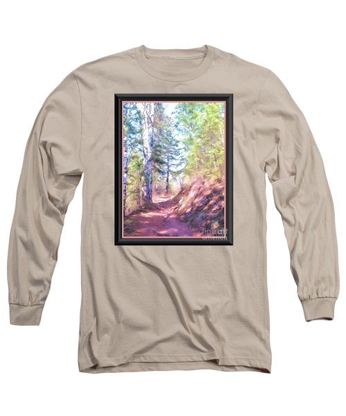 Long Sleeve T-Shirt featuring the photograph The Copper Path by Shirley Moravec