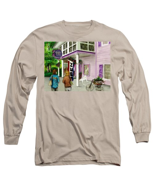 Long Sleeve T-Shirt featuring the drawing The Crystal Cove At Lilydale Ny by Albert Puskaric