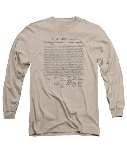 The Declaration Of Independence Long Sleeve T-Shirt by War Is Hell Store