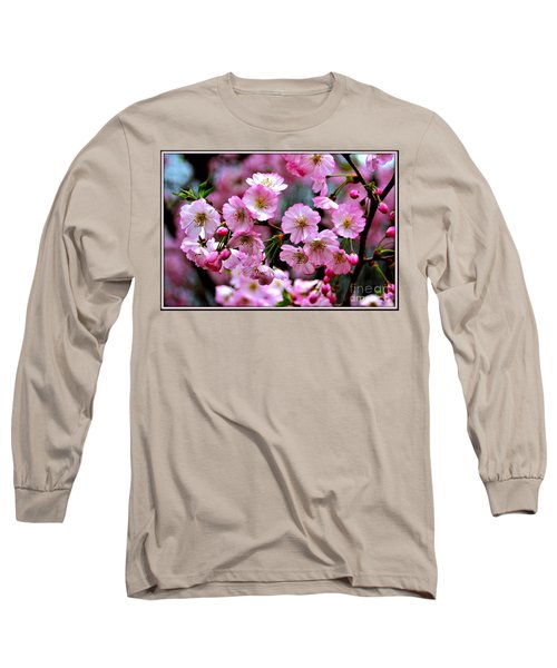 The Delicate Cherry Blossoms Long Sleeve T-Shirt