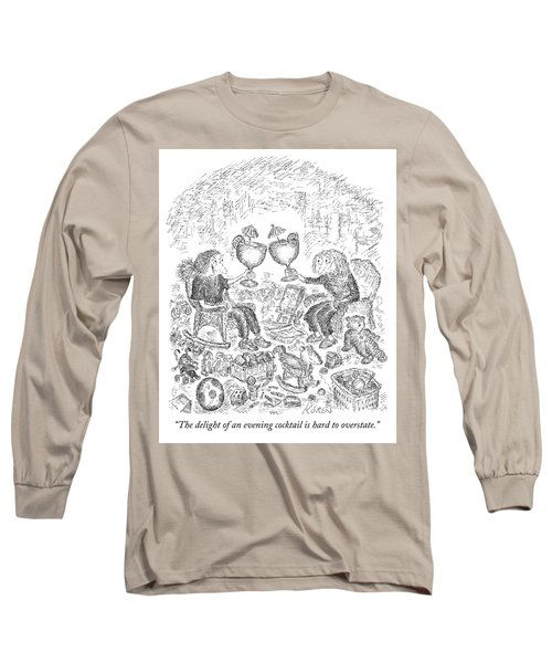 The Delight Of An Evening Cocktail  Long Sleeve T-Shirt