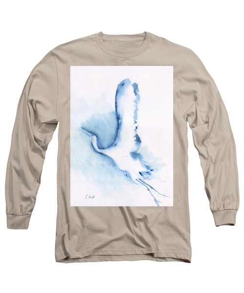 The Egret Take Off Long Sleeve T-Shirt by Frank Bright