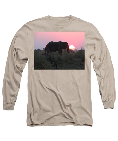 The Elephant And The Sun Long Sleeve T-Shirt