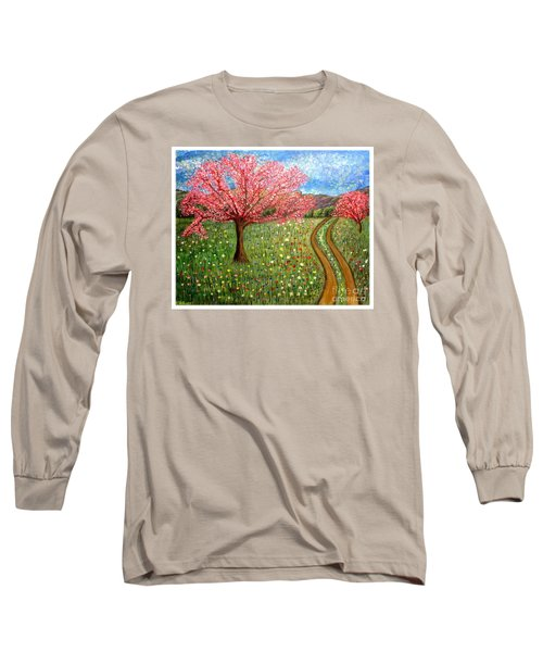 The Enchanted Fairy Garden Meadow Long Sleeve T-Shirt by Kimberlee Baxter