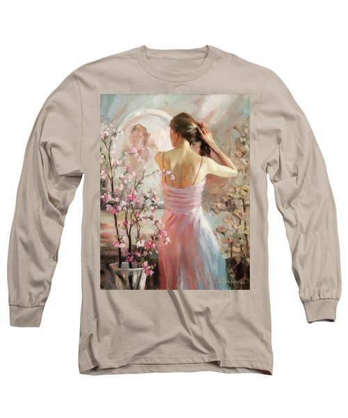 Long Sleeve T-Shirt featuring the painting The Evening Ahead by Steve Henderson