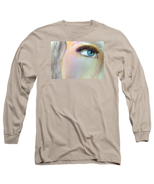 Long Sleeve T-Shirt featuring the painting The Eyes Have It by Ed  Heaton