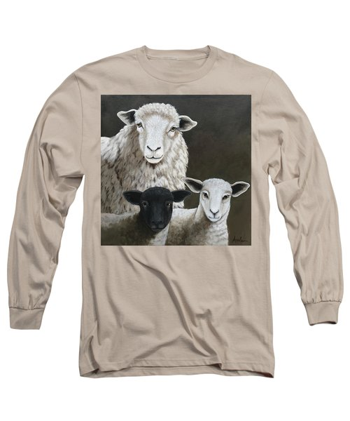 The Family - Sheep Oil Painting Long Sleeve T-Shirt