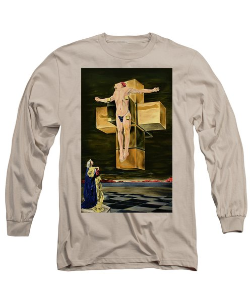 The Father Is Present -after Dali- Long Sleeve T-Shirt by Ryan Demaree
