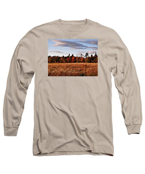 The Field At The Old Farm Long Sleeve T-Shirt by Joy Nichols