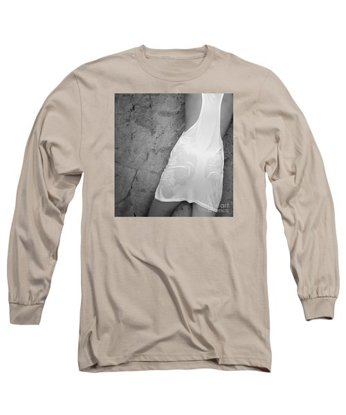 Long Sleeve T-Shirt featuring the photograph The Figure Of A Young Girl In A Wet Dress. by Andrey  Godyaykin