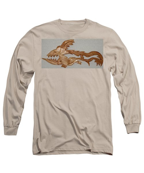 The Fish Skeleton Long Sleeve T-Shirt by Robert Margetts
