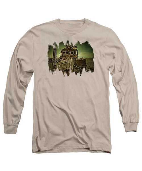 Long Sleeve T-Shirt featuring the photograph Mary D. Hume Shipwreak by Thom Zehrfeld