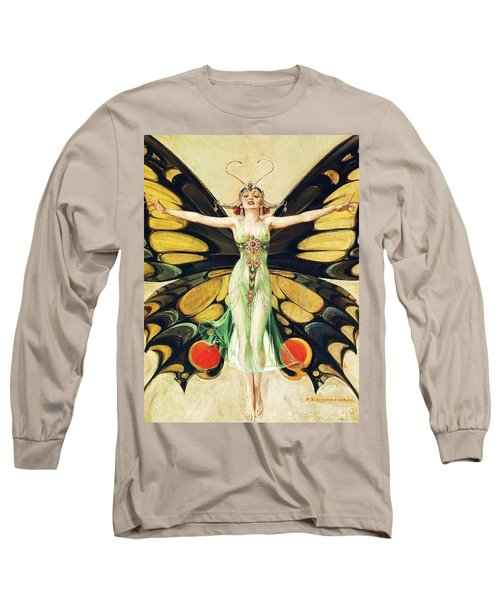 The Flapper Long Sleeve T-Shirt by Pg Reproductions