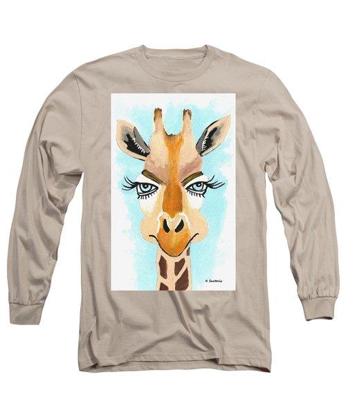 Long Sleeve T-Shirt featuring the painting The Flirt by Kathleen Sartoris