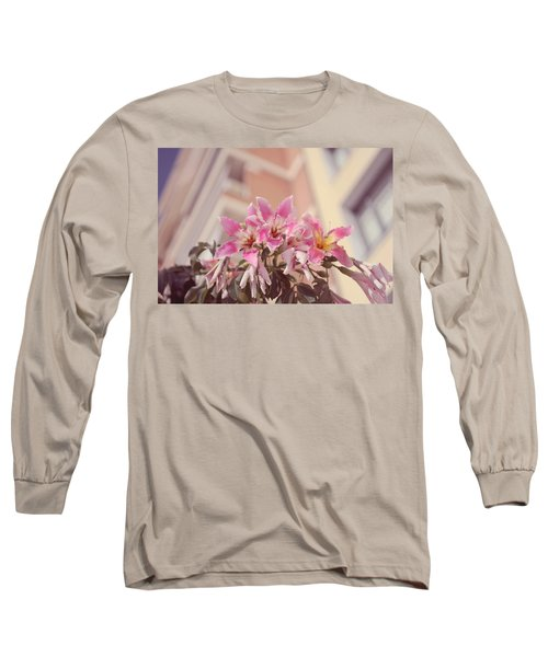 Long Sleeve T-Shirt featuring the photograph The Flowers Of Malaga by Jenny Rainbow
