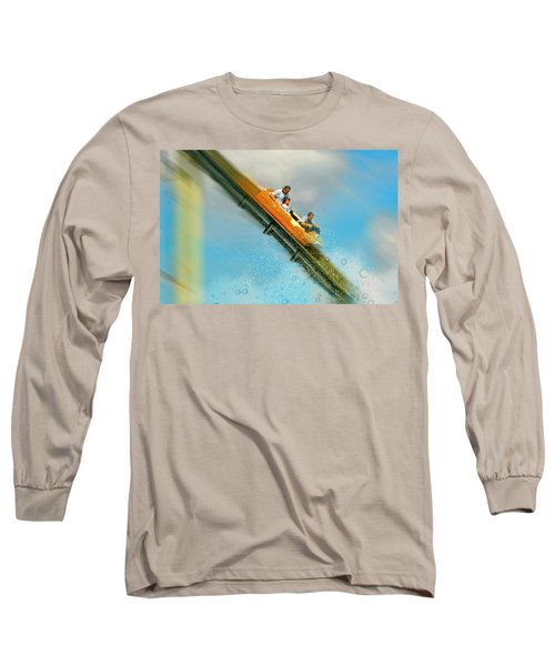 Long Sleeve T-Shirt featuring the photograph The Flume by Diana Angstadt