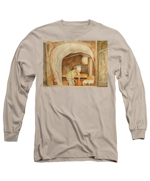 Long Sleeve T-Shirt featuring the painting The French Baker by Vicki  Housel