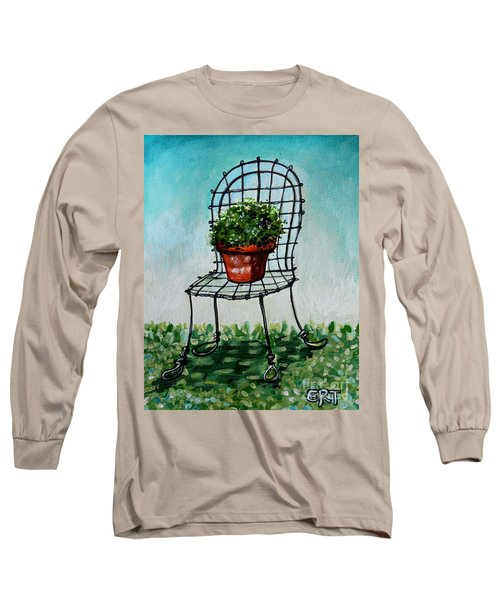 The French Garden Cafe Chair Long Sleeve T-Shirt