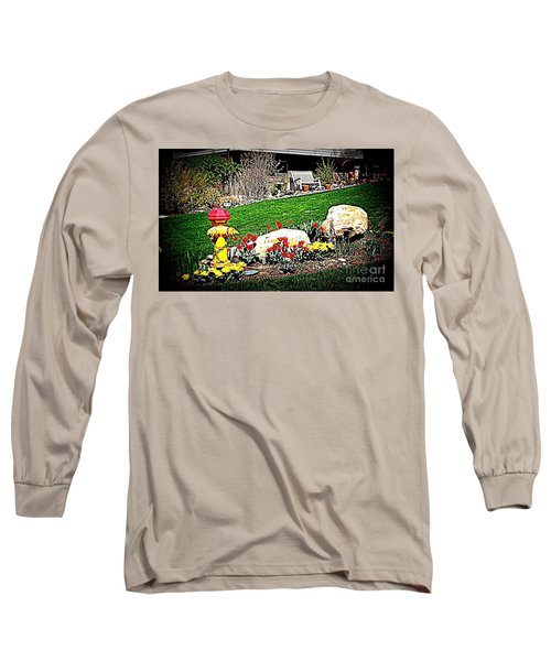 Long Sleeve T-Shirt featuring the photograph The Gardener by Richard W Linford