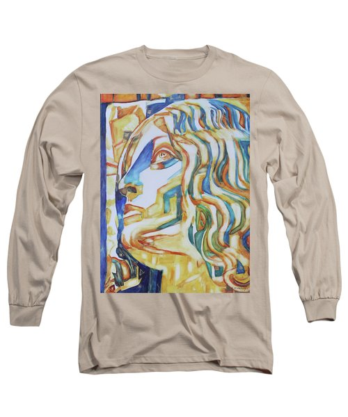 The Gaze - Inspired By Tullio Lombardo, 1460-1532 Long Sleeve T-Shirt