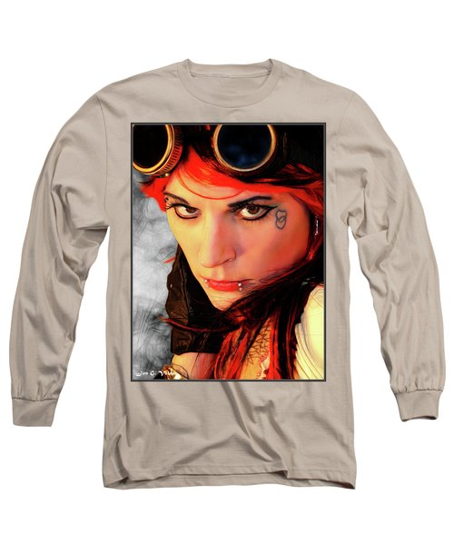The Gaze Of Steam Punk Vixen Long Sleeve T-Shirt