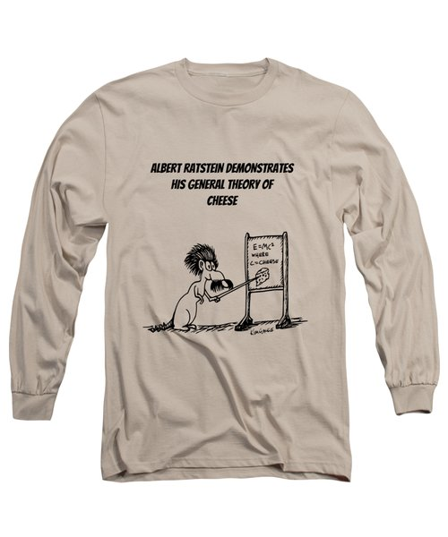 The General Theory Of Cheese Long Sleeve T-Shirt by Kim Gauge