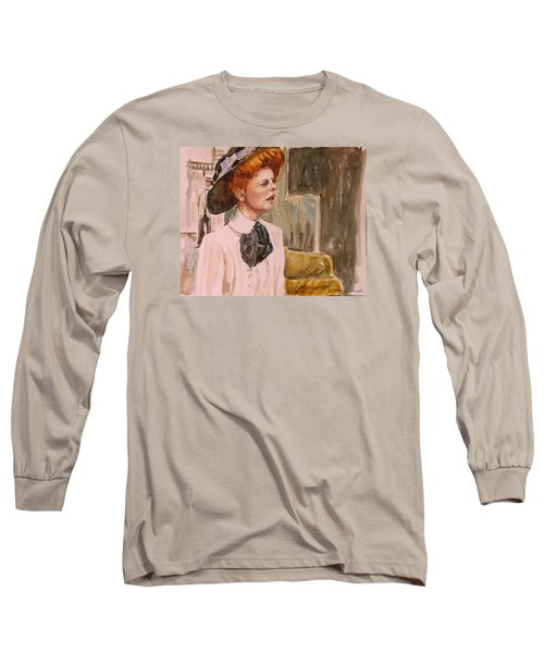 The Girl In The Movies Long Sleeve T-Shirt by P Maure Bausch
